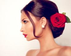 Прическа для фламенко